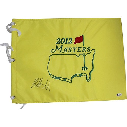 Bubba Watson Autographed 2012 Augusta National Masters Flag Beckett - Authentic Signature