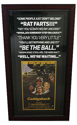CaddyShack Quotes Michael O'Keefe Danny & Cindy Morgan Lacey Autographed 39X19 Framed Photo