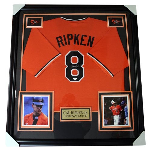 Cal Ripken Jr. Baltimore Orioles Autographed Framed 1988 Orange Jersey - JSA Authentic