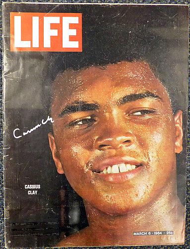 Cassius Clay Muhammad Ali Autographed Life Magazine Auto Grade 10 PSA/DNA