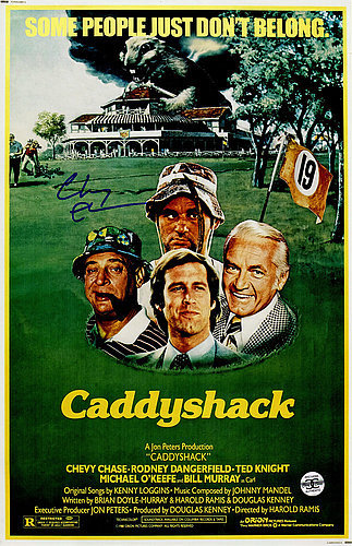 Chevy Chase Autographed Caddyshack 11x17 Movie Poster - Certified Authentic