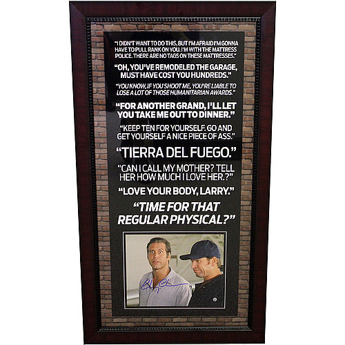 Chevy Chase Autographed Fletch Quotes 35X19 Framed Photo