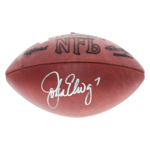John Elway Denver Broncos Autographed Wilson The Duke NFL Football