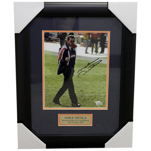 Mike Ditka Chicago Bears Framed Autographed 8x10 Photo With Nameplate - Fanatics Authentic