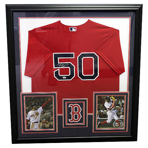 Mookie Betts Boston Red Sox Framed Autographed Red Jersey - Fanatics Authentic
