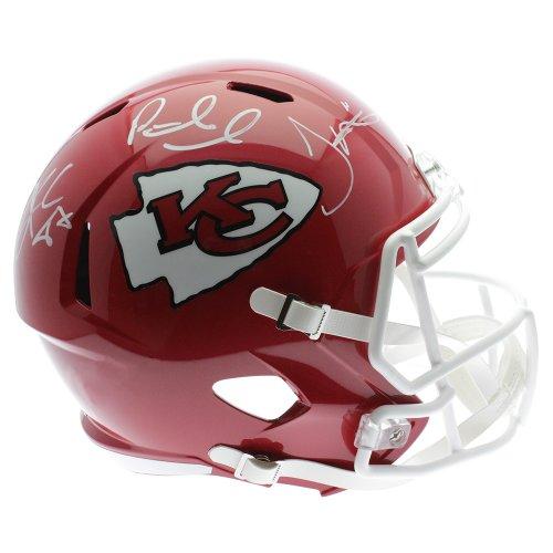 Patrick Mahomes Travis Kelce Tyreek Hill Kansas City Chiefs Autographed Riddell Speed Replica Helmet - JSA Certified Authentic