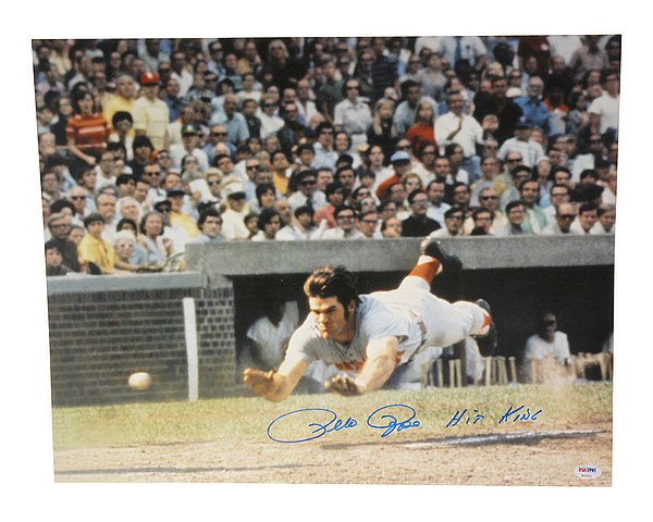 Pete Rose Autographed 16x20 Photo Cincinnati Reds Hit King - PSA/DNA Certified