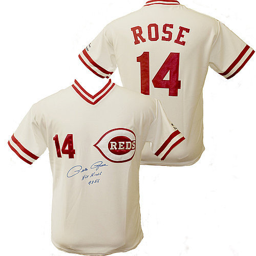 Pete Rose Autographed Cincinnati Reds Custom White Jersey - Hit King 4256 Inscription - Bleeding on Pen- PSA/DNA