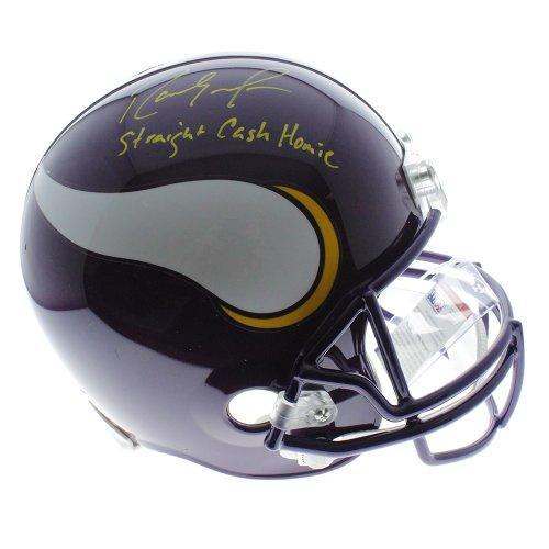Randy Moss Minnesota Vikings Autographed Riddell Replica Full Size Helmet Straight Cash Homie Inscription - PSA/DNA Certified