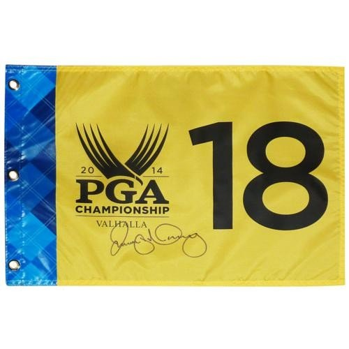 Rory McIlroy Autographed PGA Championship Valhalla Pin Flag - Full Signature - PSA/DNA Full Letter