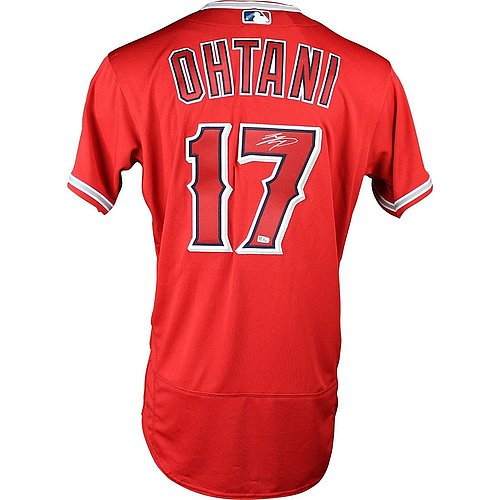 Shohei Ohtani Signed Los Angeles Angels of Anaheim 2018 Authentic Scarlet Jersey (MLB Authenticated)