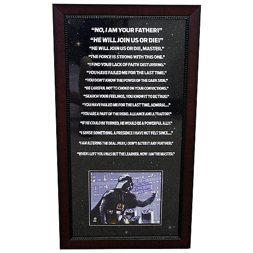 Star Wars David Prowse Darth Vader Autographed Quotes 35X19 Framed Photo