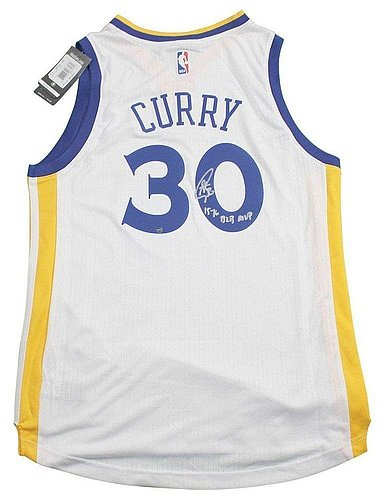 Stephen Curry Signed Autograph/Inscribed 15-16 B2B Mvp White Jersey - Certified Authentic