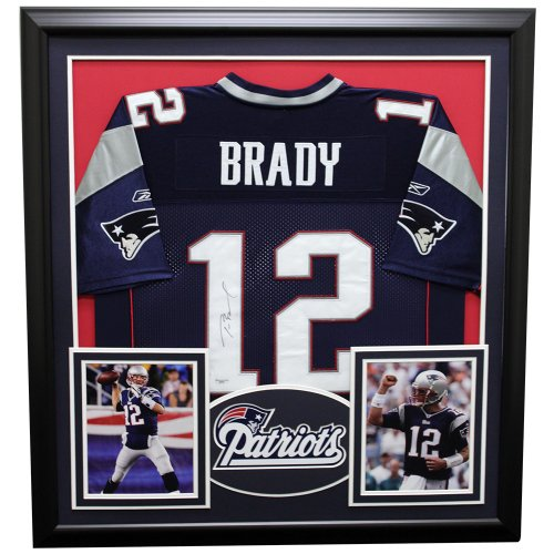 Tom Brady New England Patriots Framed Autographed Jersey - Certified Authentic
