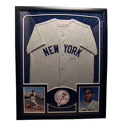 Yogi Berra Autographed New York Yankees Framed Custom Jersey - Certified Authentic Autograph