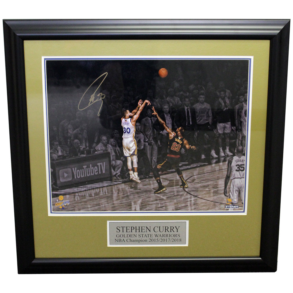 384eeb001956 Stephen Curry Golden State Warriors Framed Autographed Spotlight 16x20  Photo - Steiner Authentic
