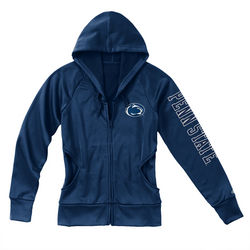 Penn State Juniors Performance Zip Up Hoodie Navy Lion Head