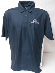 Penn State Polo Shirt Navy With White Trim
