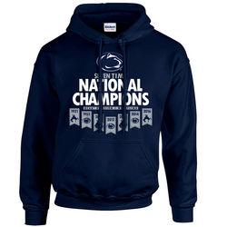 Penn State 2013 Wrestling Champions Hooded Sweatshirt Navy