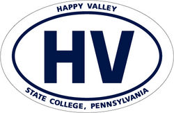 "Penn State Car Magnet Euro-Style Happy Valley - 4"" x 6"""