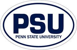 """Penn State Car Magnet Euro-Style PSU - White - 4"""" x 6"""""""
