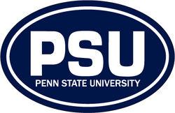 "Penn State Car Magnet Navy Euro-Style PSU - 4"" x 6"""