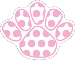 Penn State Car Magnet Small Pink Polka Dot Paw Set Of 3