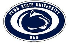 "Penn State Dad Car Magnet 4"" X 6"""
