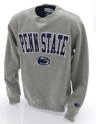 Penn State Embroidered Crewneck Sweatshirt Gray Arching Over Lion Head