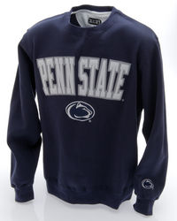 Penn State Embroidered Crewneck Sweatshirt Navy Arching Over Lion Head