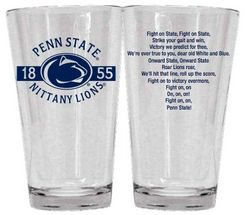 Penn State Fight Song Glass 16 oz