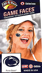 Penn State Game Faces Tattoos - Lion Paws