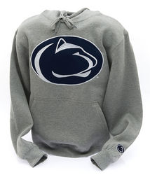 Penn State Hooded Embroidered Sweatshirt Lion Head Gray