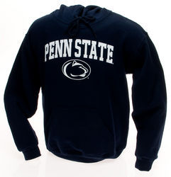 Penn State Kids Hooded Sweatshirt Navy Arching Over Lion Head