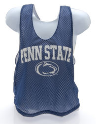 Penn State Lacrosse Style Mesh Tank Top Navy Arching Over