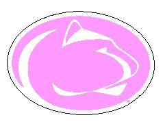 Penn State Lion Head Magnet Pink 3 Inch