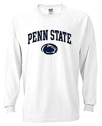 Penn State Long Sleeve Shirt White Arching Over Lion