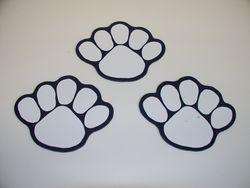 Penn State Magnets 3-Pack White Paws