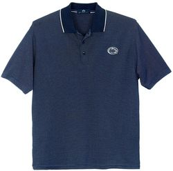 Penn State Mens Micropima Performance Pin Striped Golf Shirt
