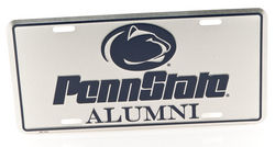 Penn State Metal Alumni License Plate Silver