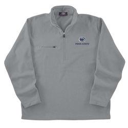 Penn State Microfiber Fleece 1/4 Zip Sweatshirt Gray