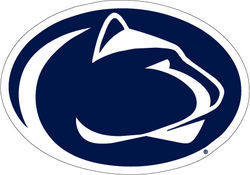 Penn State Navy & White Lion Head Decal 3.5 Inch