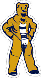 Penn State Nittany Lion Mascot Car Magnet 3.5 inch