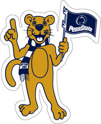 Penn State Nittany Lion Mascot Car Magnet - 8 inches