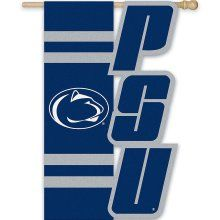 "Penn State Nittany Lions Applique PSU Flag 28"" x 44"""
