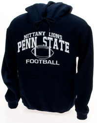 Nittany Lions Football Hooded Sweatshirt - Navy, Gray, or White