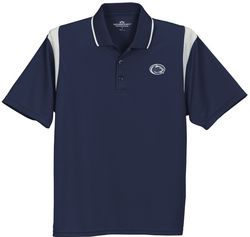 Penn State Nittany Lions Golf Shirt Navy Color Block