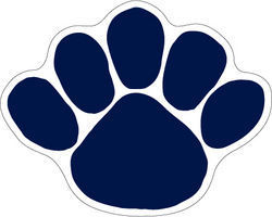 Penn State Nittany Lions Paw Car Magnet Medium