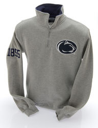 Penn State Nittany Lions Quarter Zip Sweatshirt Gray