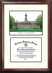 Pennsylvania State University Scholar Framed Lithograph with Diploma - Bookstore Quality